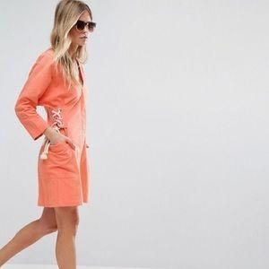 ASOS Coral Corset Dress